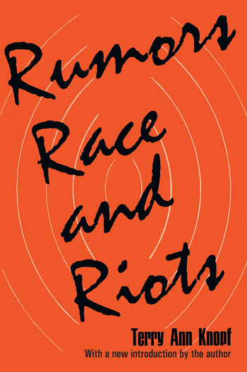 Rumors, Race and Riots book cover