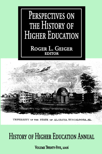 Perspectives on the History of Higher Education Volume 25, 2006 book cover