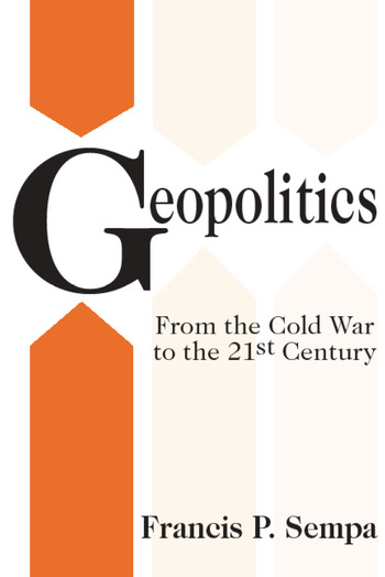 Geopolitics From the Cold War to the 21st Century book cover
