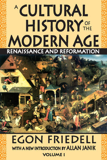 A Cultural History of the Modern Age Volume 1, Renaissance and Reformation book cover