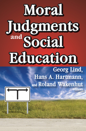 Moral Judgments and Social Education book cover