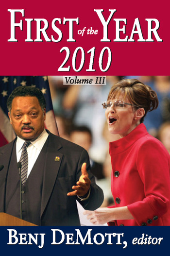 First of the Year: 2010 Volume III book cover