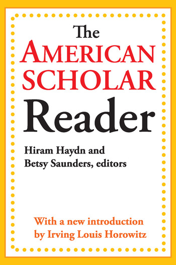 The American Scholar Reader book cover