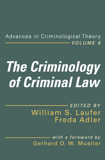The Criminology of Criminal Law book cover