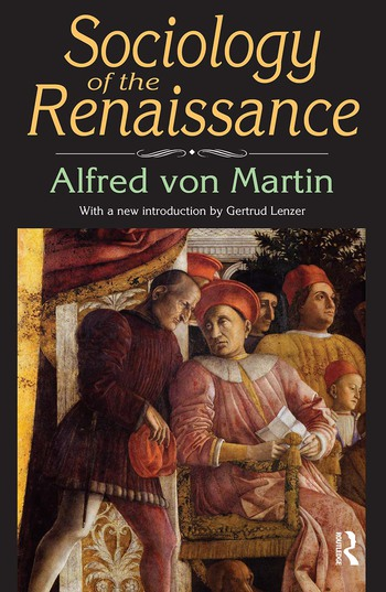 Sociology of the Renaissance book cover