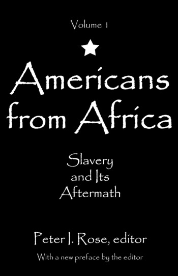 Americans from Africa Slavery and its Aftermath book cover