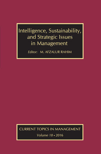 Intelligence, Sustainability, and Strategic Issues in Management Current Topics in Management book cover