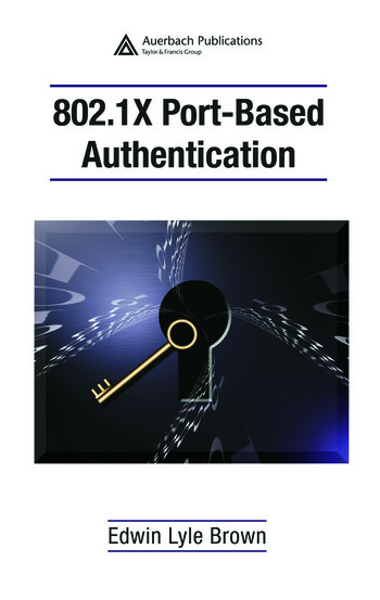 802.1X Port-Based Authentication book cover