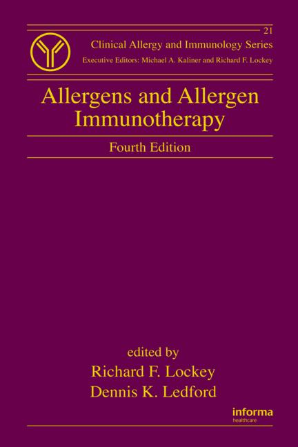 Allergens and Allergen Immunotherapy book cover