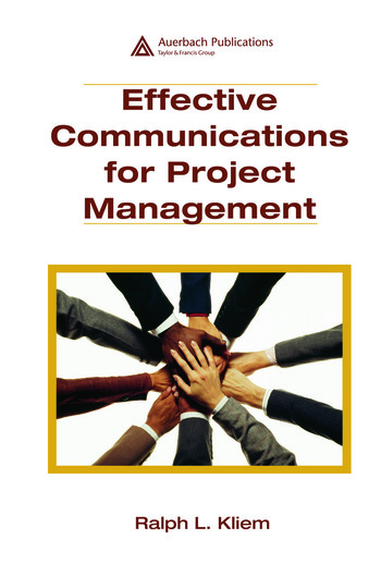Effective Communications for Project Management book cover