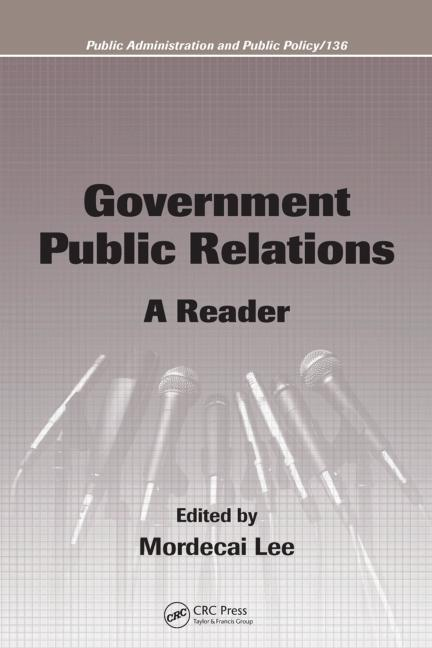Government Public Relations A Reader book cover