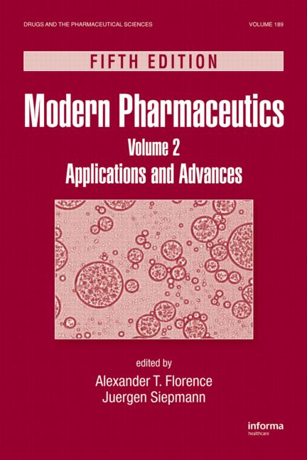 Modern Pharmaceutics, Volume 2 Applications and Advances, Fifth Edition book cover