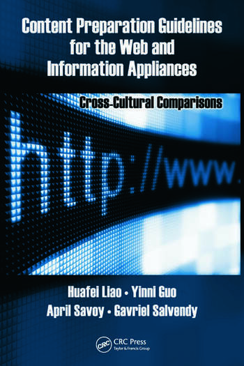 Content Preparation Guidelines for the Web and Information Appliances Cross-Cultural Comparisons book cover