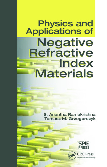 Physics and Applications of Negative Refractive Index Materials book cover