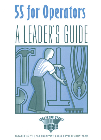 5S for Operators A Leader's book cover