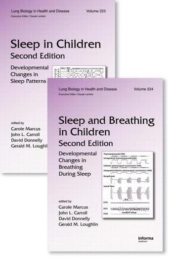 Sleep in Children and Sleep and Breathing in Children, Second Edition Two Volume Set book cover
