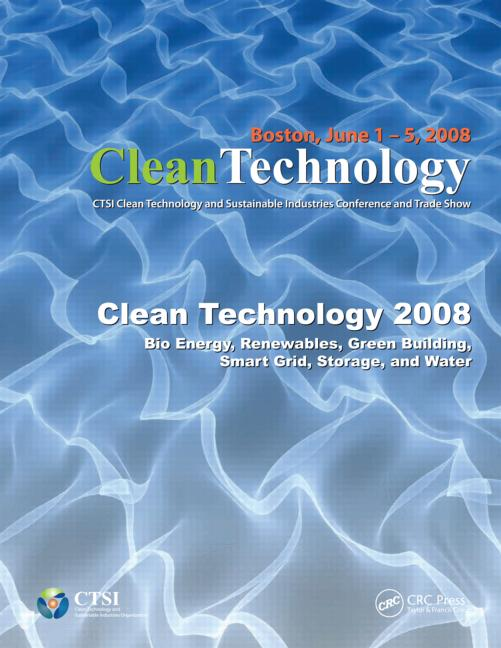 Clean Technology 2008 Bio Energy Renewables Green Buil book cover