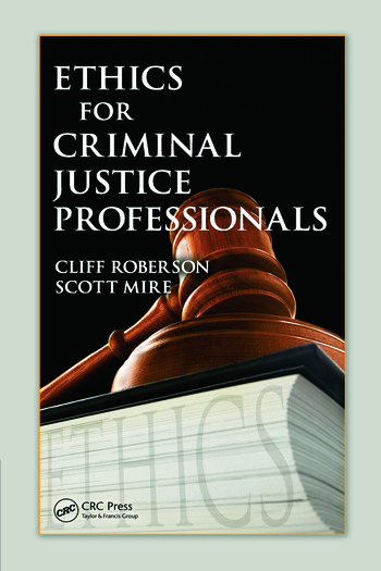 Ethics for Criminal Justice Professionals book cover