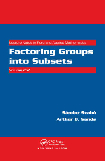 Factoring Groups into Subsets book cover