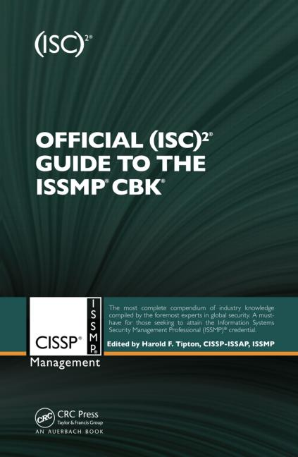 Official (ISC)2® Guide to the ISSMP® CBK® book cover