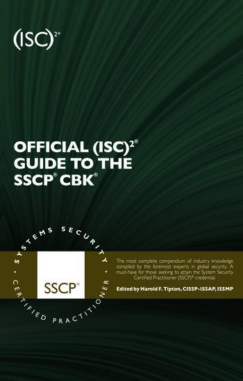 Official (ISC)2 Guide to the SSCP CBK, Second Edition book cover