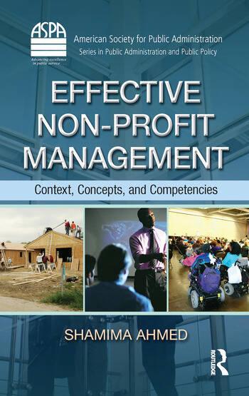Effective Non-Profit Management Context, Concepts, and Competencies book cover