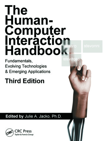 Human Computer Interaction Handbook Fundamentals, Evolving Technologies, and Emerging Applications, Third Edition book cover