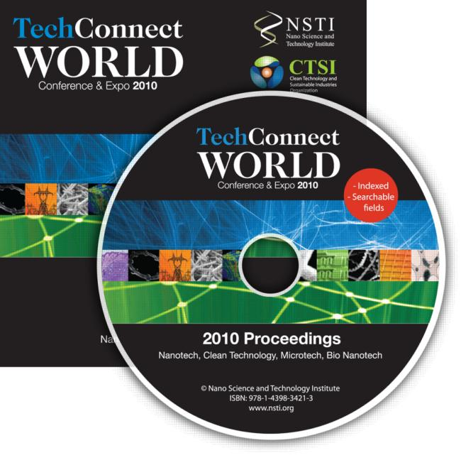 TechConnect World 2010 Proceedings Nanotech, Clean Technology, Microtech, Bio Nanotech Proceedings DVD book cover