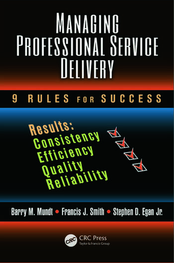 Managing Professional Service Delivery 9 Rules for Success book cover