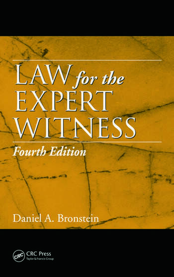 Law for the Expert Witness book cover