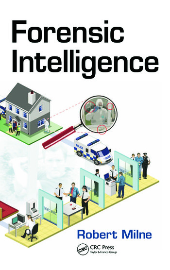 Forensic intelligence
