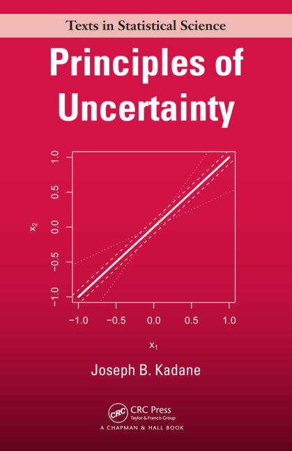 Principles of Uncertainty book cover