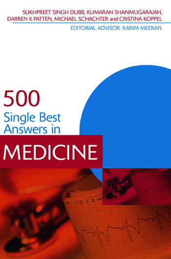 500 Single Best Answers in Medicine book cover