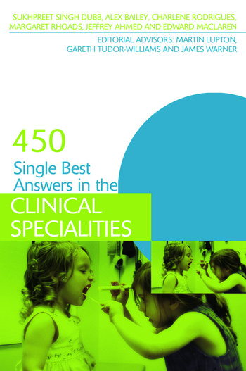 450 Single Best Answers in the Clinical Specialities book cover