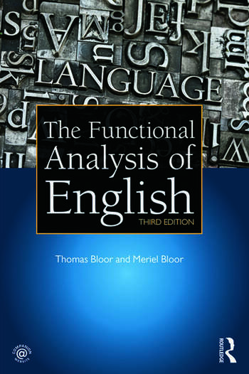 The Functional Analysis of English A Hallidayan Approach book cover