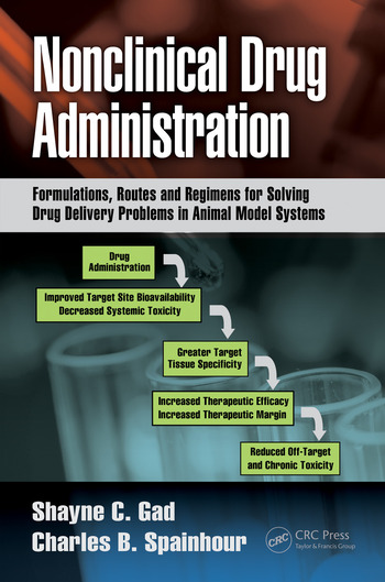 Nonclinical Drug Administration Formulations, Routes and Regimens for Solving Drug Delivery Problems in Animal Model Systems book cover
