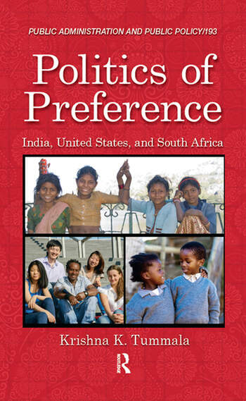 Politics of Preference India, United States, and South Africa book cover