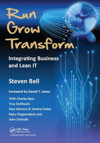 Run Grow Transform Integrating Business and Lean IT book cover