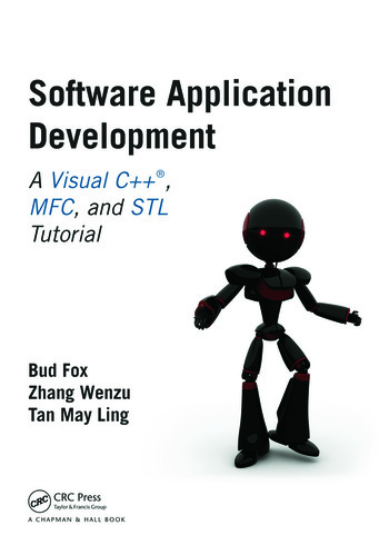 Software Application Development A Visual C++, MFC, and STL Tutorial book cover