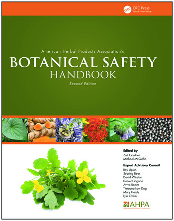 American Herbal Products Association's Botanical Safety Handbook book cover