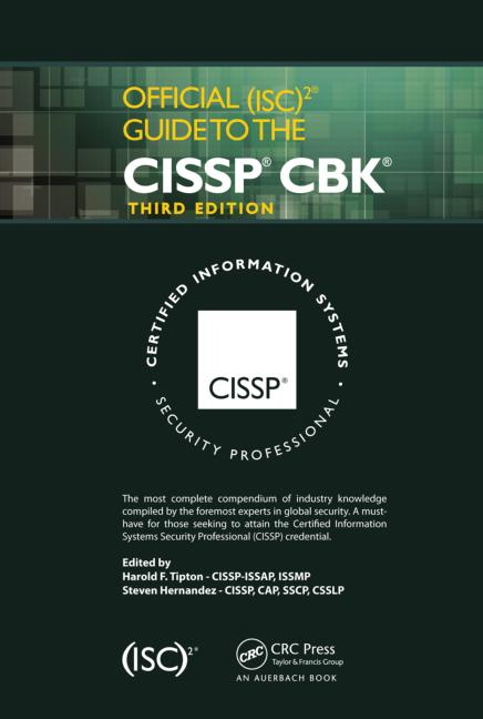 Official (ISC)2 Guide to the CISSP CBK, Third Edition book cover