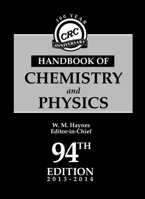 CRC Handbook of Chemistry and Physics, 94th Edition book cover