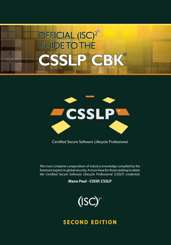 Official (ISC)2 Guide to the CSSLP CBK, Second Edition book cover