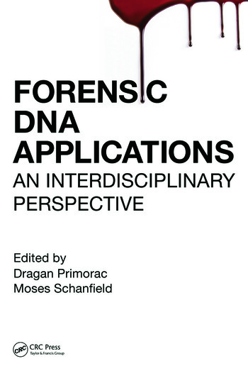 Forensic DNA Applications An Interdisciplinary Perspective book cover