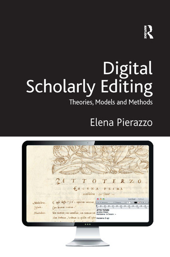 Digital Scholarly Editing Theories, Models and Methods book cover