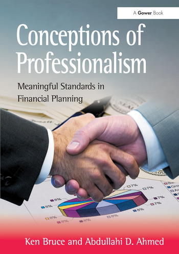 Conceptions of Professionalism Meaningful Standards in Financial Planning book cover