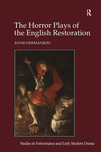 The Horror Plays of the English Restoration book cover