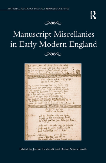 Manuscript Miscellanies in Early Modern England book cover