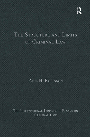 The Structure and Limits of Criminal Law book cover