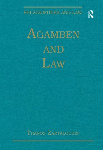 Agamben and Law book cover